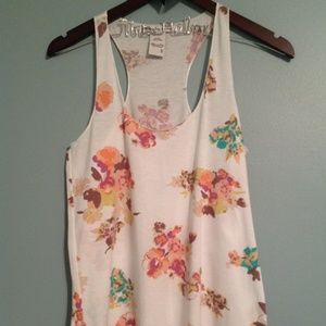 American Rag floral tank top-Size Small